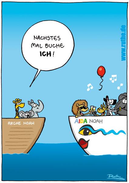 öfter AIDA Noah versus ARCHE Noah - ruthe.de