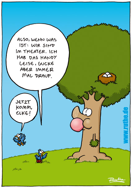 Lustige Vögel Cartoon